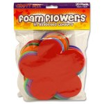 Crafty Bitz 20 Foam Sheets Flowers