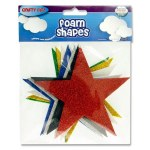 Crafty Bitz Foam Glitter Stars 8 Pack