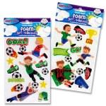Crafty Bitz 3D Foam Stickers Soccer Fun