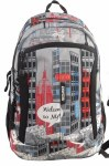 Freelander School Bag Multi Compartment Backpack Grey Urban 30 Litres