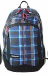 Freelander School Bag Multi Compartment Backpack Blue Check 30 Litres