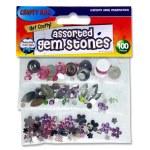 Crafty Bitz Assorted Gem Stones 100 Pack