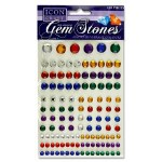 Icon Self Adhesive Gem Stones Dark 120