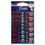 Self Adhesive Gems 39 Hearts