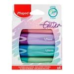 Maped Glitter Highlighter 4 Pack