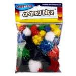 Crafty Bitz Pom Poms Glitter 30 Pack
