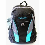 Highland School Bag Neon Black/Blue 28 Litres
