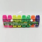 Highlighters Mini 8 Pack Perfect Stationery