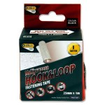 Multipurpose Hook & Loop Fastening Tape Black 1M