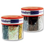 Icon Craft 50g 6 Part Glitter Shaker Metallics
