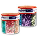 Icon Craft 50g 6 Part Glitter Shaker Pastels