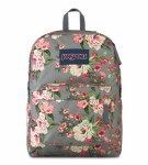 Jansport Superbreak School Bag Grey Bouquet 25 Litre
