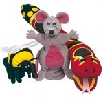 Jolly Phonics Puppets Set of all 3 Inky Mouse Bee and Snake