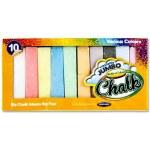 World of Colour Jumbo Chalk Coloured 10 Pack