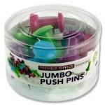Drawing Pins 12 Jumbo Coloured