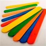Lollipop Sticks Jumbo Coloured 100 Pack