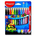 Color'Peps Jungle Markers 12 Pack Maped