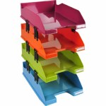 Letter Tray 4 Tiers Combo Harlequin