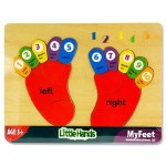 Little Hands Wooden Counting My Feet Puzzle