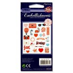 Icon Craft 24 Embellishments Love