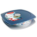 Picnik Concept 900ml Lunch Plate Storm Blue Maped