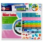 Clever Kidz Magnetic Calendar Board 420 x 288mm