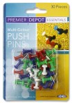 Map Pins Coloured 30 pack Premier
