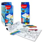 Maped Color'Peps Colouring Roll & 18 Markers