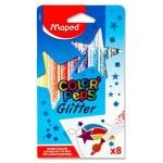 Maped Color'Peps 8 Glittered Felt Tip Pens