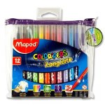 Markers 12 Long Life Color Peps Felt Tip in Pencil Case