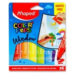 Color'Peps 6 Window Felt Tip Pens & Cloth Maped
