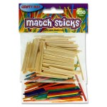 Matchsticks 250 Assorted Crafty Bitz