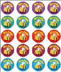 Merit Stickers Pack Of 100 Bee Well Done Prim Ed