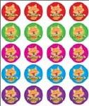 Merit Stickers Pack Of 100 Cat Purrfect Prim Ed
