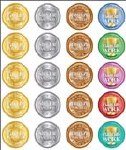 Merit Stickers Pack Of 100 Gold Silver Bronze Gold Award Prim Ed