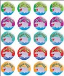 Merit Stickers Pack Of 100 Hippo Great Work Prim Ed