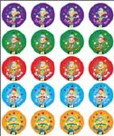 Merit Stickers Pack Of 100 Juggler Terrific Work Prim Ed