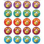 Merit Stickers Pack Of 100 Leaf Brilliant Prim Ed