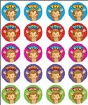 Merit Stickers Pack Of 100 Monkey Wow Prim Ed