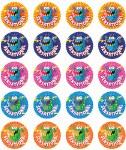 Merit Stickers Pack Of 100 Monster Sensational Prim Ed