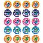 Merit Stickers Pack Of 100 Monsters Top Effort Prim Ed