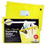 Document Mesh Wallet Extra Durable Yellow Squash A4+