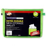Document Mesh Wallet Extra Durable Green B4