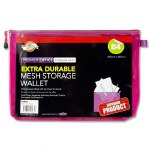 Document Mesh Wallet Extra Durable Purple B4