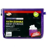 Document Mesh Wallet Extra Durable Violet B4