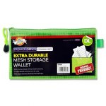 Document Mesh Wallet DL Extra Durable Green