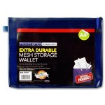 Document Mesh Wallet Extra Durable Blue Depths A4+