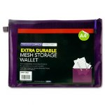 Document Mesh Wallet Extra Durable Grape A4+