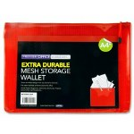 Document Mesh Wallet Extra Durable Red A4+