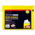 Document Mesh Wallet Extra Durable Sunshine Yellow A4+